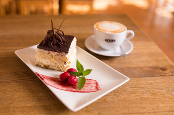 Delicious desserts and coffee